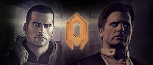 The illusive man and Shepard by Stealthero