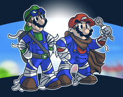 Super Mario Bros. - Sonic Boom Style by mitchell00
