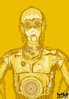 C-3PO Robot Anatomy by ym-graphix