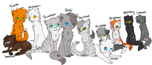 My favourite warrior cats by xseashell