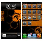 iPhone Home and Lock screens 2 (in use) by mojographics