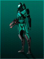 Quarian (male) in colors by Magdalene-Cross