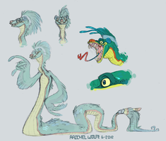 Feathered Serpent Guy by VCR-WOLFE
