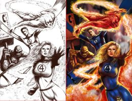 Fantastic 4 San Dieg Comic Con by DougSQ