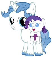 Rarity's First Best Friend by 3D4D