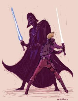 Star Wars Ralph McQuarrie tribute by BobbyRubio