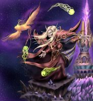 Kael and his bird by Deadguybeer
