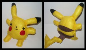 Pikachu Plushie by kiddomerriweather
