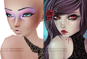 Hadia (before-after) by RazorCheeks