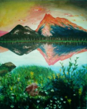 mount. reflection by traceyy