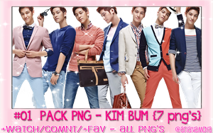 +01 PACK PNG_Kim Bum {7 PNG's} by ArianaMoya