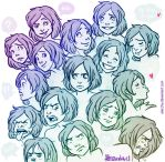A bunch of expressions by Aleccha