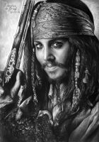 Captain Jack Sparrow by kansineedegraefart