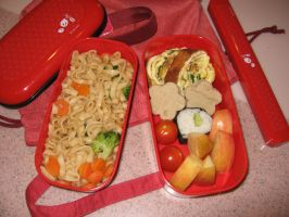 Bento of Leftovers by bentocute