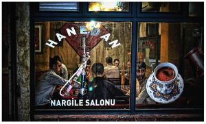 Cafe in Istanbul by GDALLIS