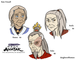 DoD: Older Katara, Azula, Zuko by Avatar-The-DoD