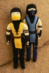 Mortal Kombat x Scorpion Sub Zero by GirlOfTheOcean