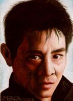 Jet Li sketch card by jenchuan