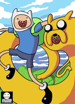 With Finn and Jake by jmatchead