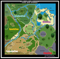The Six Clans' Territories by AriaSnow