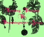 earring brushes by drowningheart-stock