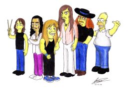 Rata Blanca Simpsons by mauriart