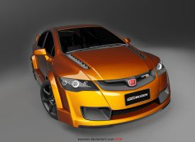 civic mugen RR wide body by dwiirawan