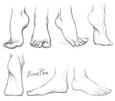 Feet practise by BonePenArt