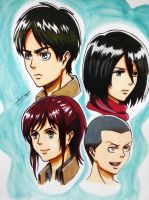 Shingeki no kyojin (Group) by Anan-MaQsoud