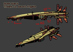 Steel Guard TridentCo. Frigate by Daemoria