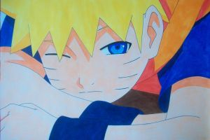 Kid Naruto Uzumaki -colored- by SakakiTheMastermind