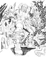 WIP  Galactus by BROKENHILL