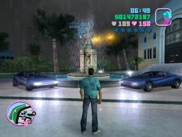 GTA VC: The Fountain, The Cars and Me by Ami-sensei