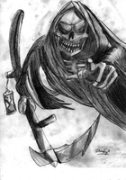 Death Drawing by huntere15