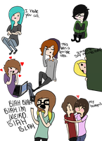 all my friends in the same room. by LettersAndLights