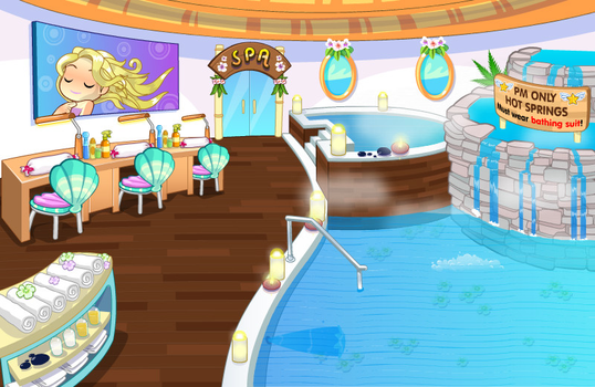 (F2U) Fantage Island Spa Background by Fario-P