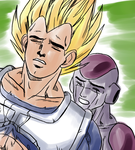 Vegeta and Frieza Yaranaika by Metalwario64