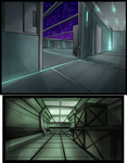 Space Ship Hallway Set by TheEvilTeaDrinker