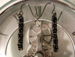 Byzantine Chainmail Earrings by MoonlightOrchids