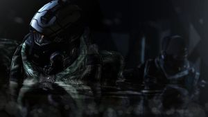 Night Infiltration by sculp2