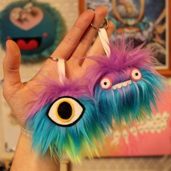 Monster Keychains by loveandasandwich