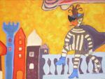 carnival cat cologne surreal by ingeline-art