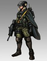 Futuristic Female Commando by TheLivingShadow
