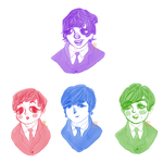 Beatles buttons! by iPixehKitteh