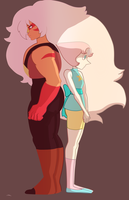Jasper and pearl by Arkel-chan