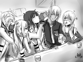 AT: Leader's fave drink~! by chromic7sky
