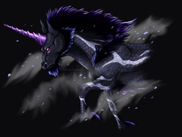 Black Ice Kirin by DarkmaneTheWerewolf