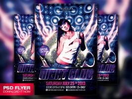 Electro House Music Flyer Template PSD by Art-MiraNAX