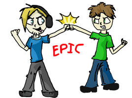 PewDiePie and Tobuscus by potatoo-tree
