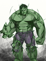 The Incredible Hulk - Cubism experiment #2 by silverfeathers